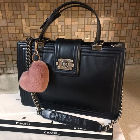 CHANEL Handbags - Auth. Chanel $5600 Black Le Boy Jumbo Reverso Tote